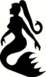 Mermaid stencil  (422)