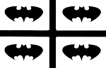 Batman mini stencils