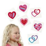 Heart Design Tattoos - 12 Pack