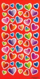 Colourful Heart Stickers - 1 sheet of 50