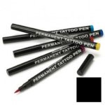 Semi permanent tattoo pen: black