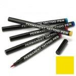 Semi permanent tattoo pen: yellow