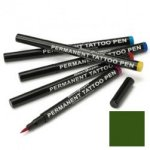 Semi permanent tattoo pen: forest green