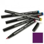 Semi permanent tattoo pen: plum