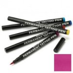 Semi permanent tattoo pen: fuchsia