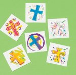 Funky cross tattoos - 12 pack