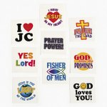 Christian Messages Tattoos - 12 Pack