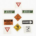 Christian Road Sign Tattoos - 12 Pack