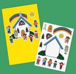 Build a church sticker sheets - 12 pack