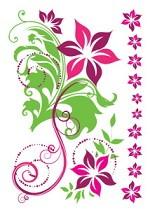 Colourful Flower tattoo sheet  (011)