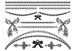 Bold in Bows Jewellery Tattoo sheet