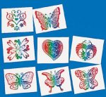 Glitter Rainbow kids tattoos: 8 pack