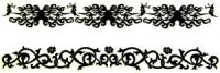 Glow-in-the-dark bracelet tattoos - 2 pack (flower)