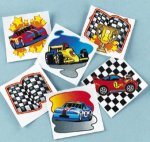 Racing Car removable tattoos - 12/36/72 Packs