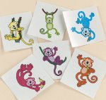 Neon monkey tattoo selection - 12/36/72 Packs