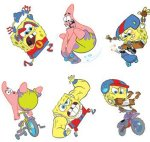 Spongebob kids fun tattoos: 6 pack