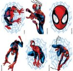 Spiderman temporary tattoos: kids party 6 pack