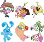 Nickelodean children's tattoos: 6 pack