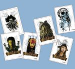 Pirates of the Caribbean temporary tattoos - 6 pack