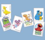 Sesame Street kids temporary tattoos: 6 pack