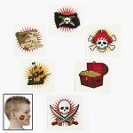 Pirate Adventure Tattoos - 12 Pack