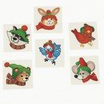 Winter Woodland Creatures Tattoos: 12 Pack