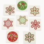 Peace on Earth Glitter Tattoos - pack of 12