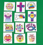 Christian children's tattoo selection - 12 pack