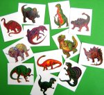 Dinosaur kids tattoos: 12 pack