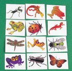 Kids fun Insect & Reptile tattoos