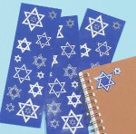 Star of David Stickers - 1 sheet