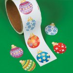 Christmas Bauble Stickers - 50 Stickers