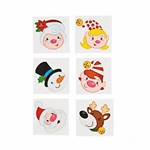 Jolly Holly Glitter Christmas Tattoos - pack of 12