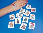 Christmas temporary tattoo selection: 12 pack