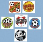 Kids football temporary tattoos