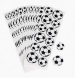 Football Stickers: 1 Sheet of 12