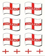 England supporters temporary tattoos pack