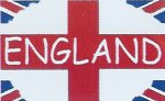 England St Georges Flag with the Union Jack