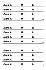 Events sheet