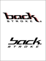 Backstroke swimming tattoos: style 2