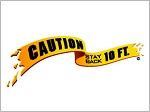 "CAUTION 10"" wide ...    swimming tattoo"