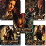 Pirates of the Caribbean stickers - 15 stickers