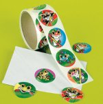 Assorted Funky Frog stickers:  50 stickers