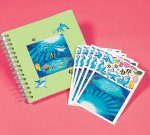 Make an Underwater Dolphin sticker scene: 12 pack