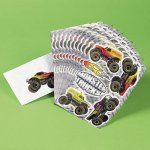 Monster Truck Sticker Sheets - Party Pack of 12