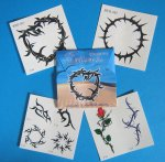 Tribal Design Tattoos - 1 Gift Pack of 8 Tattoos