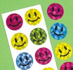 Prism smiley face stickers