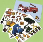 Make a Truck sticker sheet:  4 pack