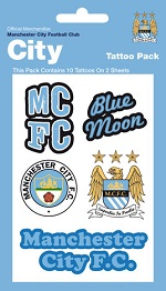 Manchester City Football supporters tattoo pack