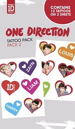 ONE DIRECTION  tattoo pack 2
